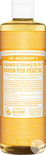 Dr Bronner's Liquid Soap Citrus & Orange 473ml