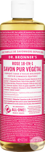 Dr Bronner's Liquid Soap Rose 473ml