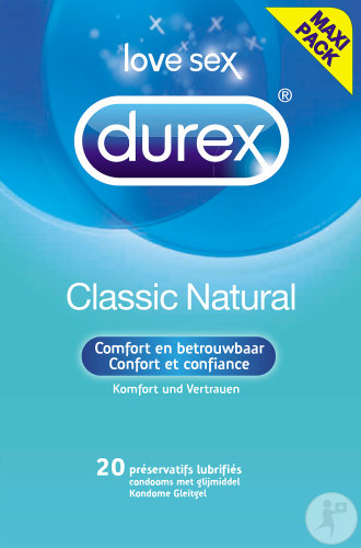 Durex Classic Natural 20 Kondome