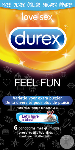 Durex Fun Explosion 6 Kondome + Gratis Online Sticker Zum Download