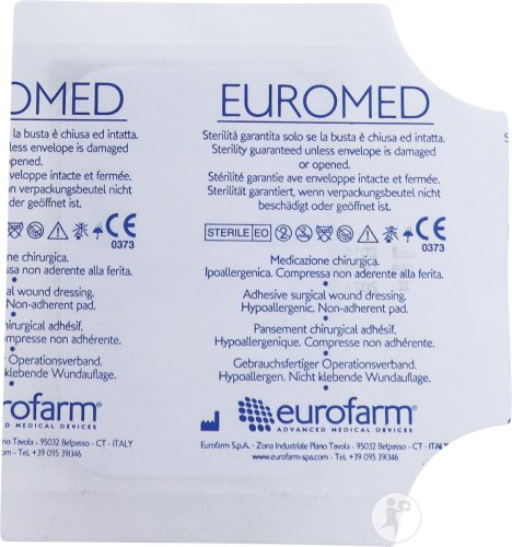 Euromed Insel Wunverband 6x9cm Steril 1 Stück