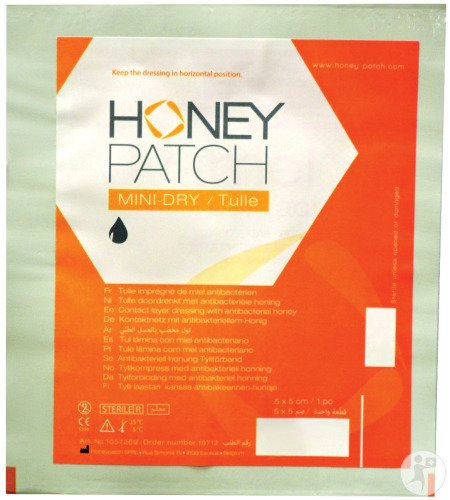 Honeypatch Mini-dry/tulle Verb Alg. Ster 5x5cm