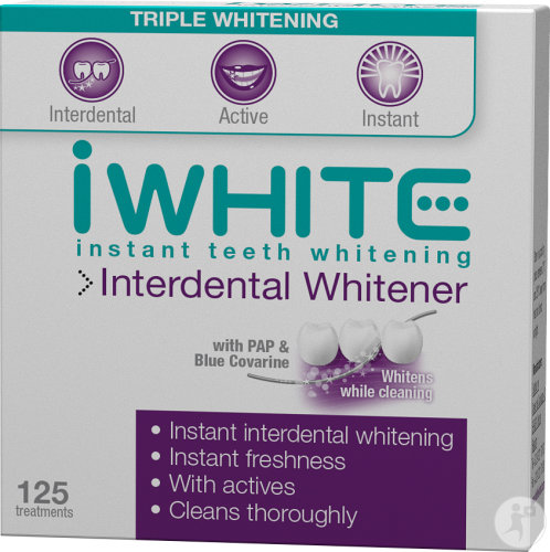 IWhite Instant Teeth Whitening Interdental-Aufheller 25m Behandlungen 125