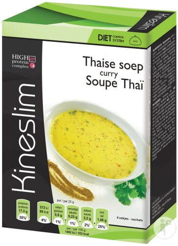 Kineslim Thai-Suppe Curry Pulver Beutel 4x25g