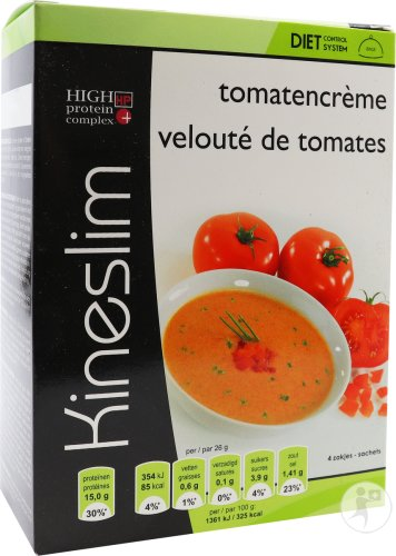 Kineslim Tomatencremesuppe Pulver Beutel 4x26g