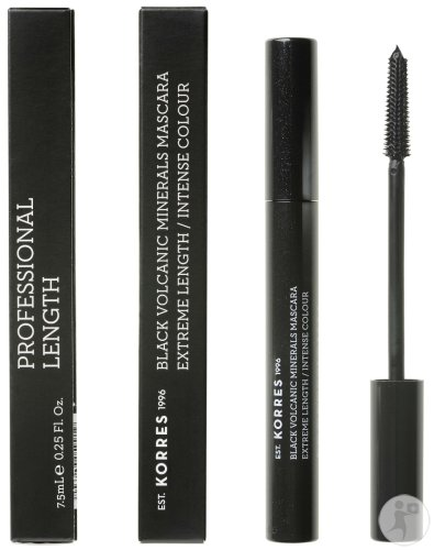 Korres Black Volcanic Minerals Lengthening Mascara 01 Black 7,5ml