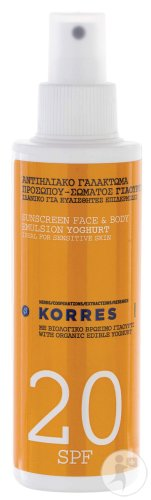 Korres Yoghurt Sun Spray SPF20 Pumpflasche 150ml