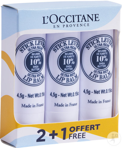 L'occitane Kit 3 Lip Sticks