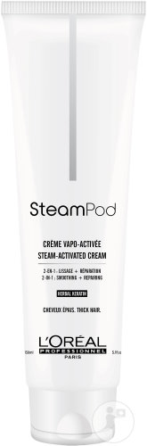 L'Oréal Professionnel Steampod Smoothing Cream Fiber Restoring Thick Hair Tube 150ml