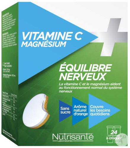Nutrisanté Vitamine C + Magnesium 2x12 Chewable Tablets