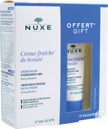 Nuxe Koffertje Fris Creme Hydra 48u Dry Or Sensitive Skin 30ml + Creme 15ml
