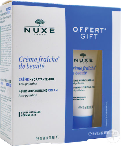 Nuxe Koffertje Fris Creme Hydra 48u Normal Skin 30ml + Creme 15ml