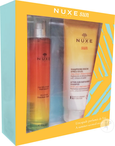 Nuxe Sun Set Sonniges Duftspray 100ml + After-Sun-Duschshampoo 200ml
