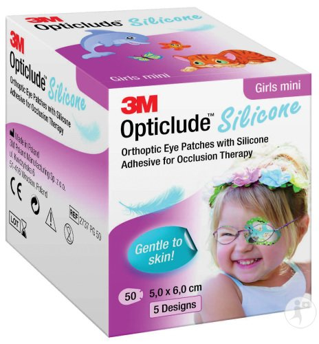 Opticlude Silicone Augenpflaster Mini Girl 5x6cm Stück 50