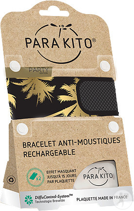 Para'kito Anti-Mücken Party Armband Miami 1 Stück