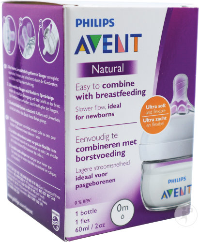 Philips Avent Naturnah-Babyflasche 60ml Transparent 0+ Monate 1 Stück