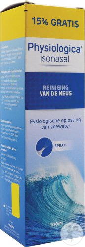 Physiologica Isonasal Spray 100ml 15% Gratis
