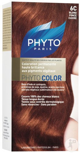 Phyto Phytocolor Permanente Coloration 6C Dunkelblond Kupfer Alle Haartypen 1 Set