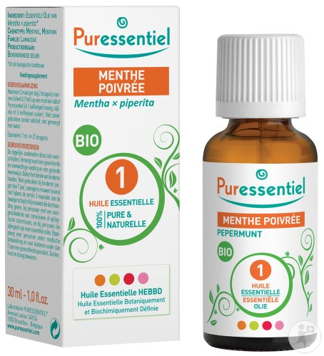 Puressentiel Pfefferminze Bio Ätherisches Öl Flakon 30ml