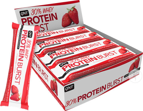 QNT Protein Burst 30% Strawberry Bars 12x70g