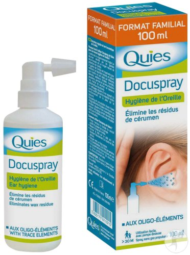 Quies Docuspray Hygiene des Ohres Spray 100ml