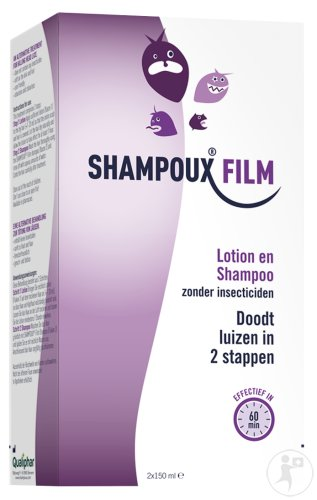 Shampoux Film Anti-Läuse Lotion Flakon 150ml + Anti-Läuse Shampoo Flakon 150ml