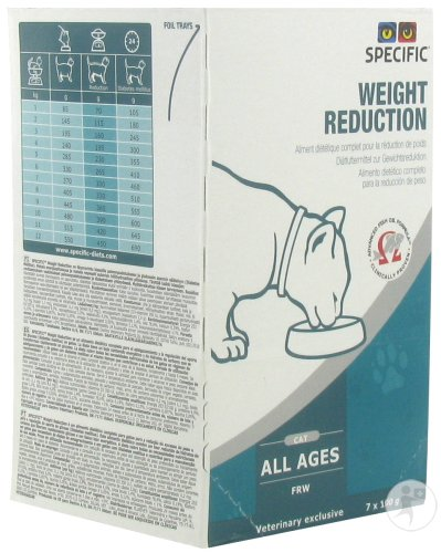 Specific FRW Weight Reduction Katzen Gewichtsreduktion Alle Altersgruppen 7x100g