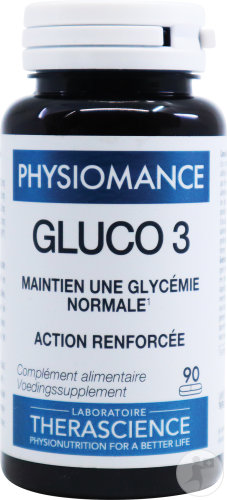 Therascience Physiomance Gluco 3 Comp 90 Phy318b
