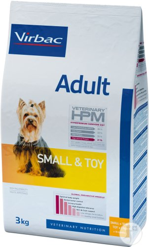 Virbac Veterinary HPM Adult Dog Small & Toy Beutel 3kg