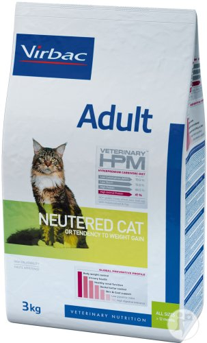Virbac Veterinary HPM Adult Neutered Cat Beutel 3kg