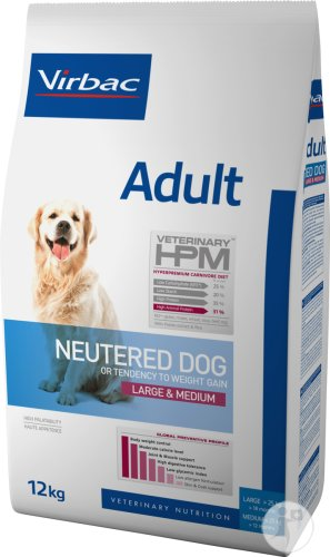 Virbac Veterinary HPM Adult Neutered Dog Large & Medium Beutel 12kg