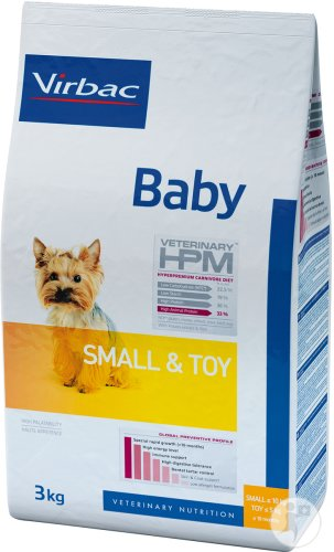 Virbac Veterinary HPM Baby Dog Small & Toy Beutel 3kg