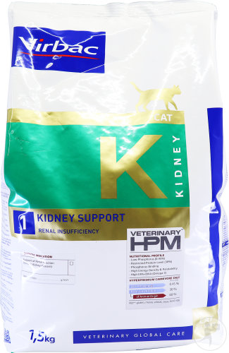 Virbac Veterinary HPM Cat K 1-Kidney Support Beutel 1,5kg