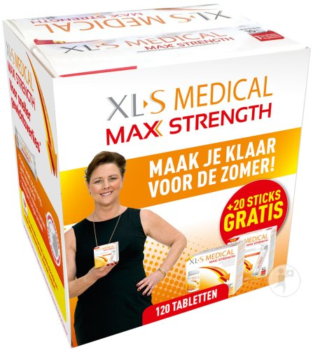 XLS Medical Max Strength 120 Tabletten + 20 Sticks