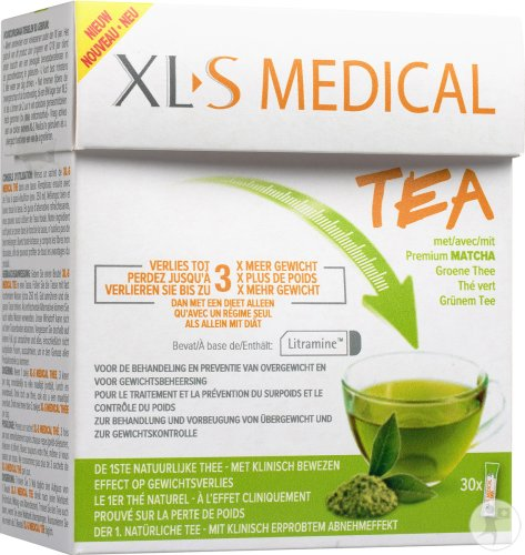 XLS Medical Tea Tee Mit Premium Grünem Matcha 30 Sticks