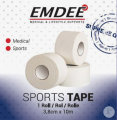 Emdee Sports Tape White 2 Rouleaux