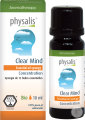Physalis Clear Mind Concentration Synergie D'Huiles Essentielles Bio 10ml