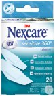 3M Nexcare Sensitive 360° Pansements Assortiment 20 Pièces