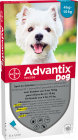 Advantix Dog 100/500 Solution Pour Spot-On Pour Chiens 4-10kg Pipettes 6x1ml