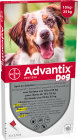 Advantix Dog 250/1250 Solution Pour Spot-On Pour Chiens 10-25kg Pipettes 6x2,5ml