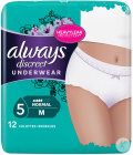 Always Discreet Normal Fuites Urinaires Culottes Taille Basse M Pièces 12
