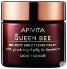 Apivita Queen Bee Age Defense Crème Light Visage Raffermissante & Réparatrice 50ml
