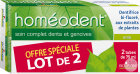 Boiron Homéodent Dentifrice Soin Complet Dents Et Gencives Anis 2x75ml