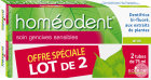 Boiron Homéodent Dentifrice Soin Gencives Sensibles Anis 2x75ml