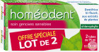 Boiron Homéodent Dentifrice Soin Gencives Sensibles Chlorophylle 2x75ml