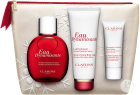 Clarins Coffret Eau Dynamisante Spray 100ml + Lait Hydratant 100ml + Gommage Exfoliant 30ml