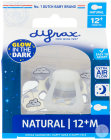 Difrax Sucette Natural Glow In The Dark 12+ Mois Sleepy Timo 1 Pièce