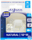Difrax Sucette Natural Glow In The Dark 18+ Mois Sleepy Isha 1 Pièce
