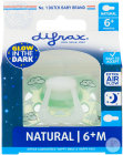 Difrax Sucette Natural Glow In The Dark 6+ Mois Sleepy Baba 1 Pièce