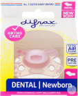 Difrax Sucette Newborn Dental Silicone Fille -2/+2 Mois Pièce 1 (796)